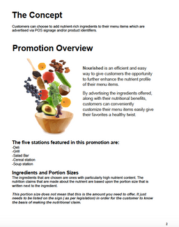 """""""Nourished"""" sample page from Implementation Guide"""