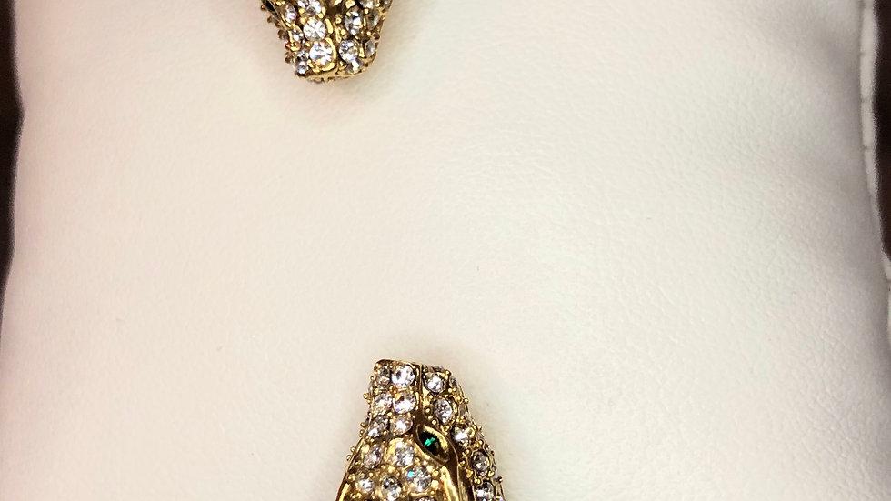 Gold CZ Jaguar Bangle