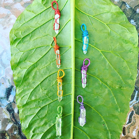 Hand-wrapped Quartz Necklaces, Healing Crystals