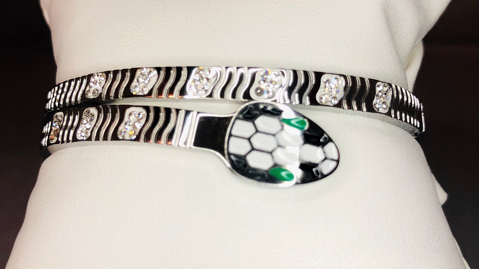Silver Sleek Snake Bracelet