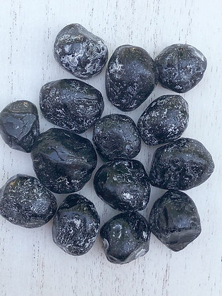 Obsidian Apache Tear Tumbled