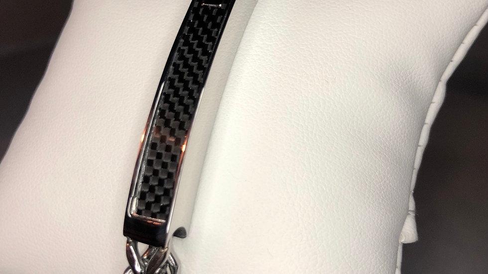 Silver Bar Link Bracelet