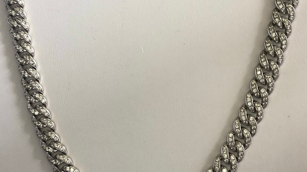 Silver Cuban Link Necklace