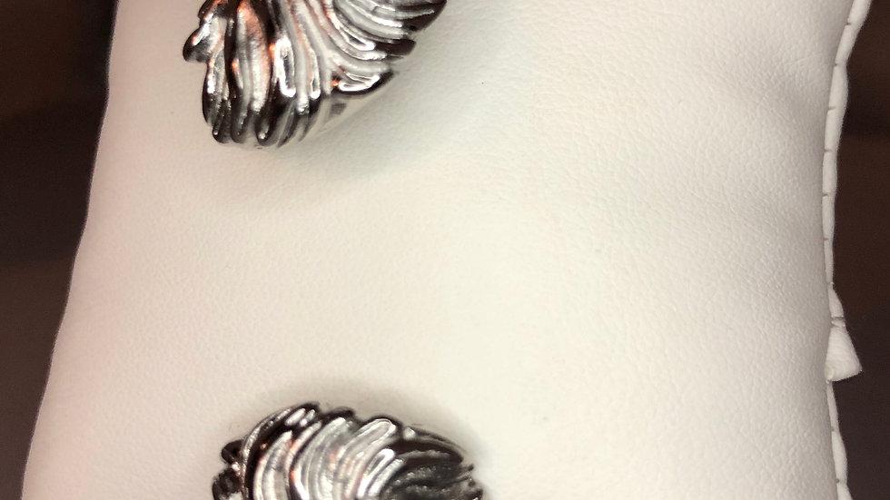 Silver Double Lion Cable Bracelet
