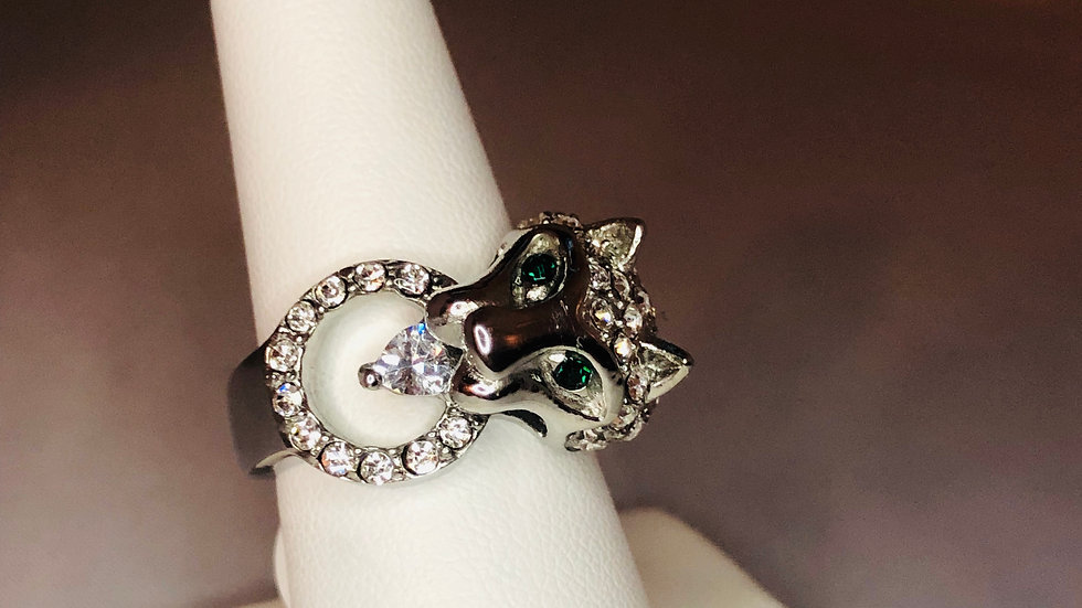 Silver Classic Jaguar Ring