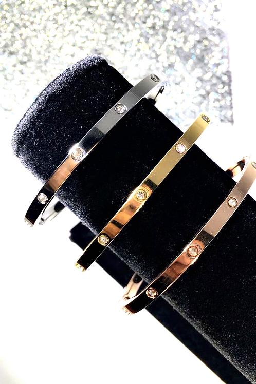 Thin Diamond Love Bracelet