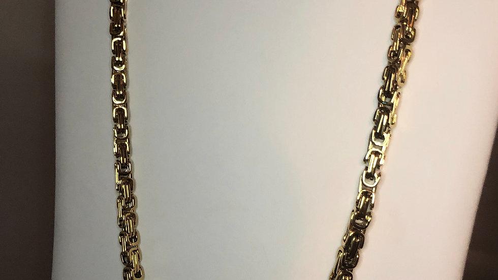 Gold Interlock Chain Necklace