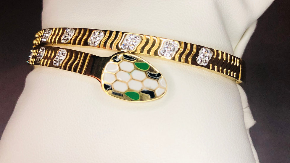 Gold Sleek Snake Bracelet