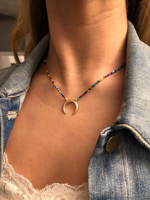 Large Rainbow Horseshoe Necklace
