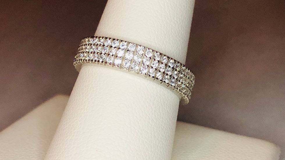 Silver Triple Eternity Band