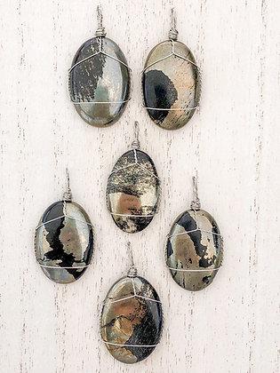 Obsidian Apache Gold Cabochon