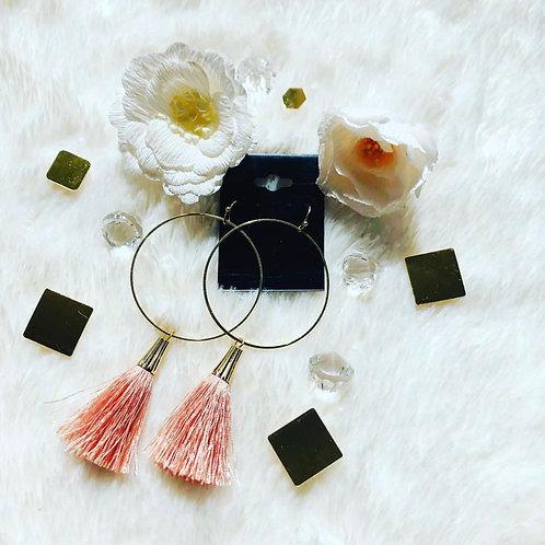 Peach Tassle Earrings