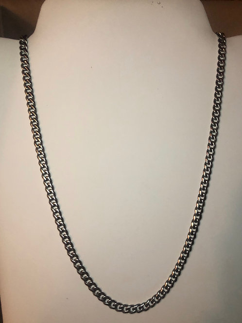 Silver Thin Cuban Link Necklace