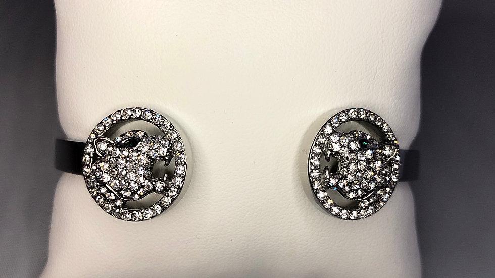 Silver Jaguar Coin Bracelet