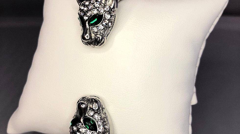 Silver Double Jaguar Bracelet