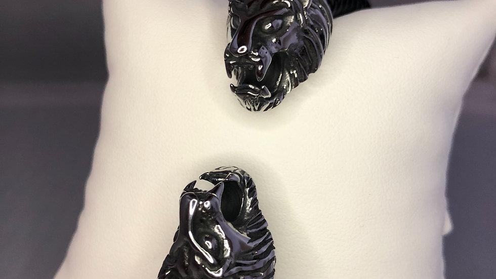 Silver Double Lion Bracelet