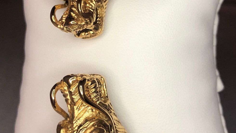 Gold Large Dragon Bracelet