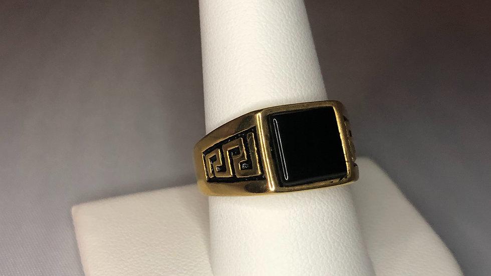 Gold Regular Stone Ring