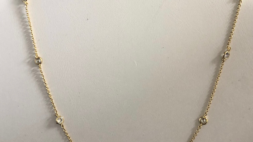 Gold 'CZ by the yard' Necklace