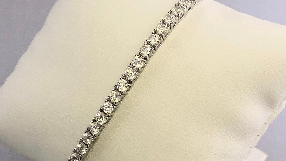 CZ Studded Tennis Bracelet