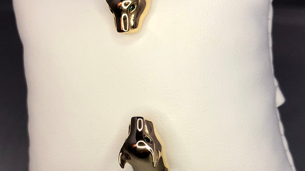 Gold Sleek Jaguar Bracelet