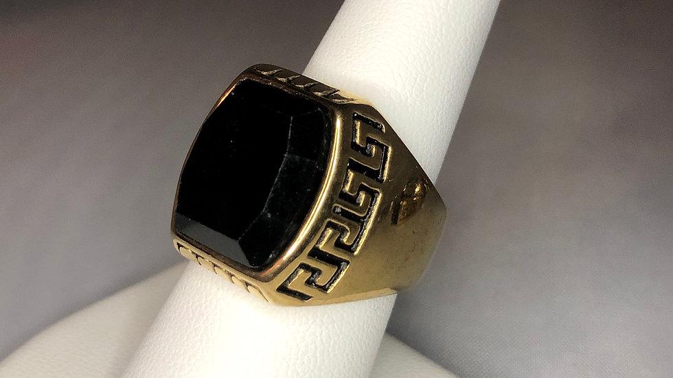 Gold Large Stone Ring