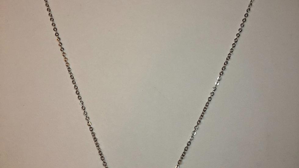Silver Emerald Cut Necklace