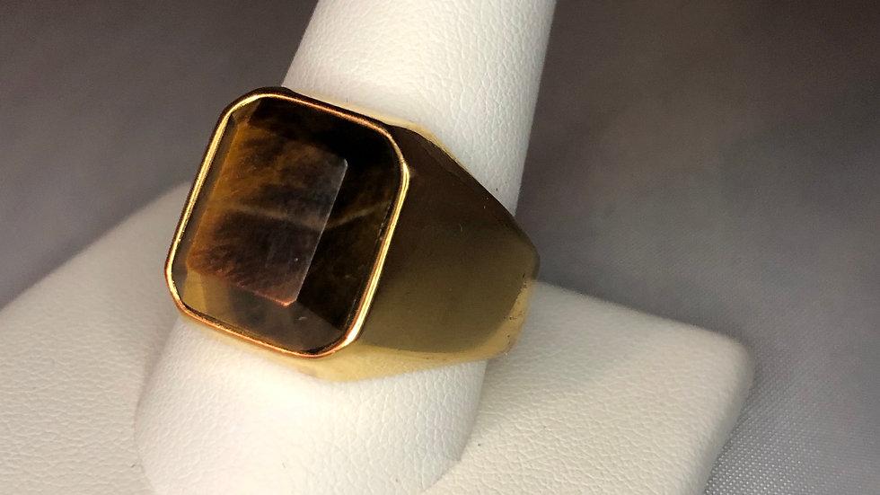 Gold Tigers Eye Ring