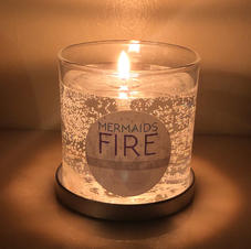Mermaids Fire Burning Candle
