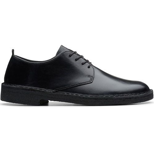 CLARKS DESERT LONDON BLACK POLISH