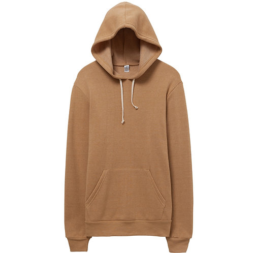 ALTERNATIVE APPAREL CHALLENGER ECO FLEECE  HOODIE CAMEL