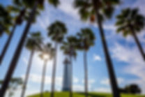 Lighthouse with palms at Long Beach.jpg