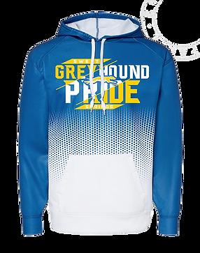 Grey Hound Blue/White Hex Hoodie