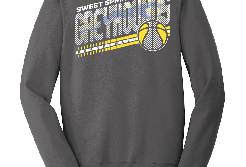 Heavy Metal Greyhound Basketball Sweatshirt