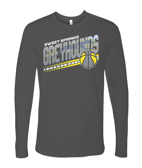 Long Sleeve Heavy Metal Greyhound Basketball