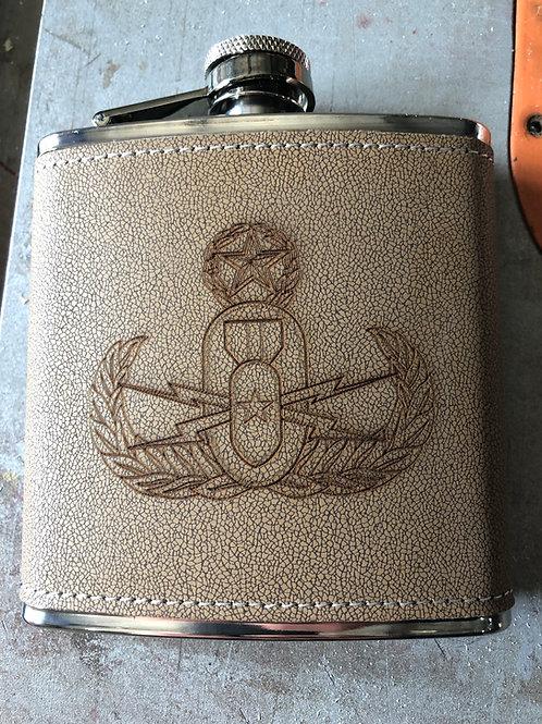 Custom Laser etched 7 oz Flask