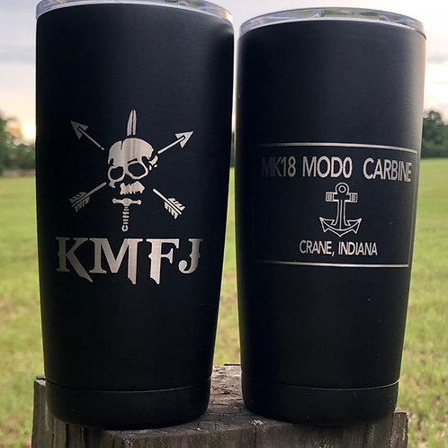 Custom Laser etched 20 oz tumbler