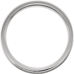 14K White 7.5mm Design-Engraved Band Size 11