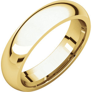 14k white gold 5mm Lightweight Comfort Fit Band