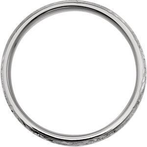Platinum 7mm Design-Engraved Band Size 11