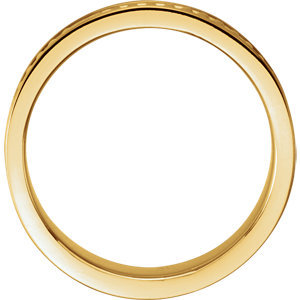 14K Yellow 7mm Design Band Size 10
