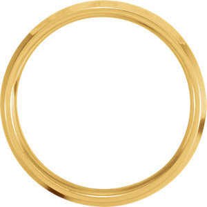 14K Yellow & White 6mm Comfort-Fit Band Size 5