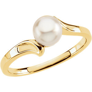 14K Yellow Pearl Ring