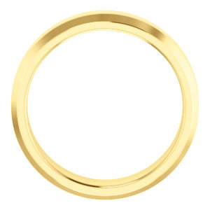 14K Yellow 6mm Comfort-Fit Beveled Edge Band Size 7.5