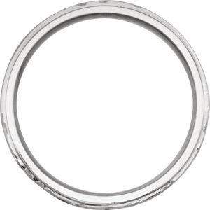 Platinum 6mm Design-Engraved Band Size 11
