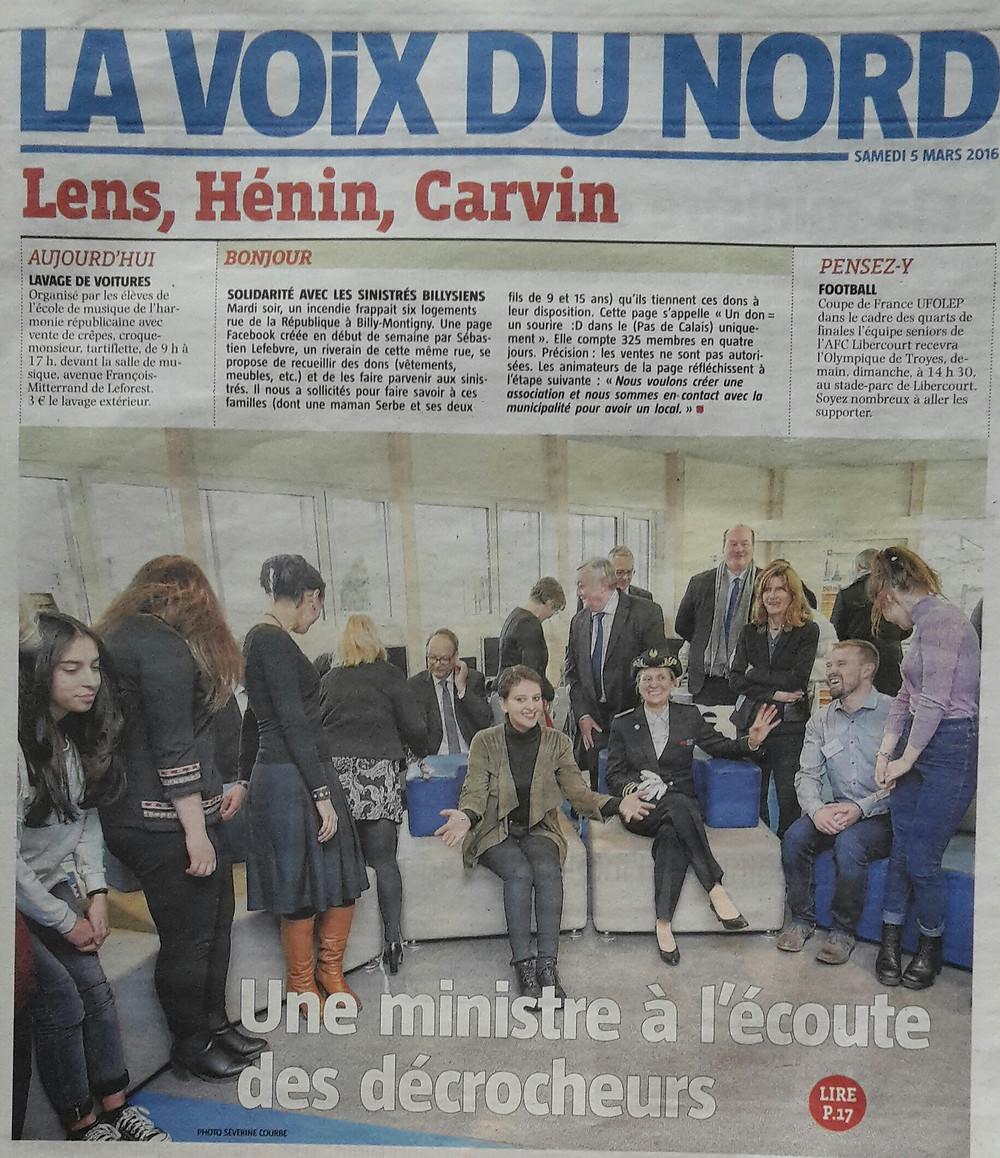 Suite à un projet mené au Lycée Diderot de Carvin, nous avons eu l'occasion d'échanger avec la Ministre de l'Education Nationale.