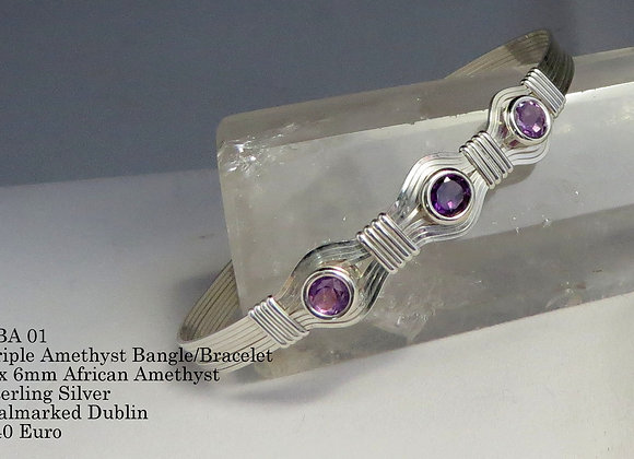 Triple Stone Bangle/Bracelet