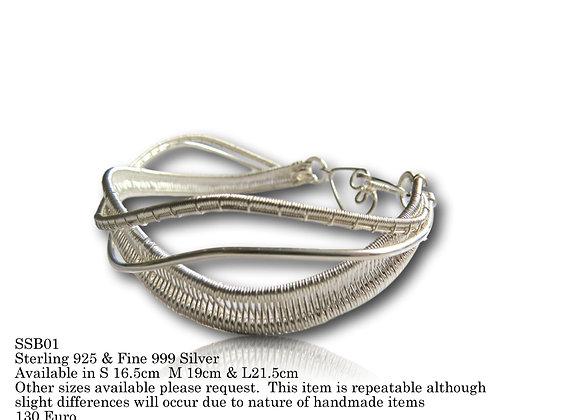 Silver Sway Bangle