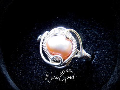 "Fresh Water Pearl Ring "" Rock Pool Ring"""