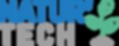 Logo Natur'Tech deux lignes bleu clair +